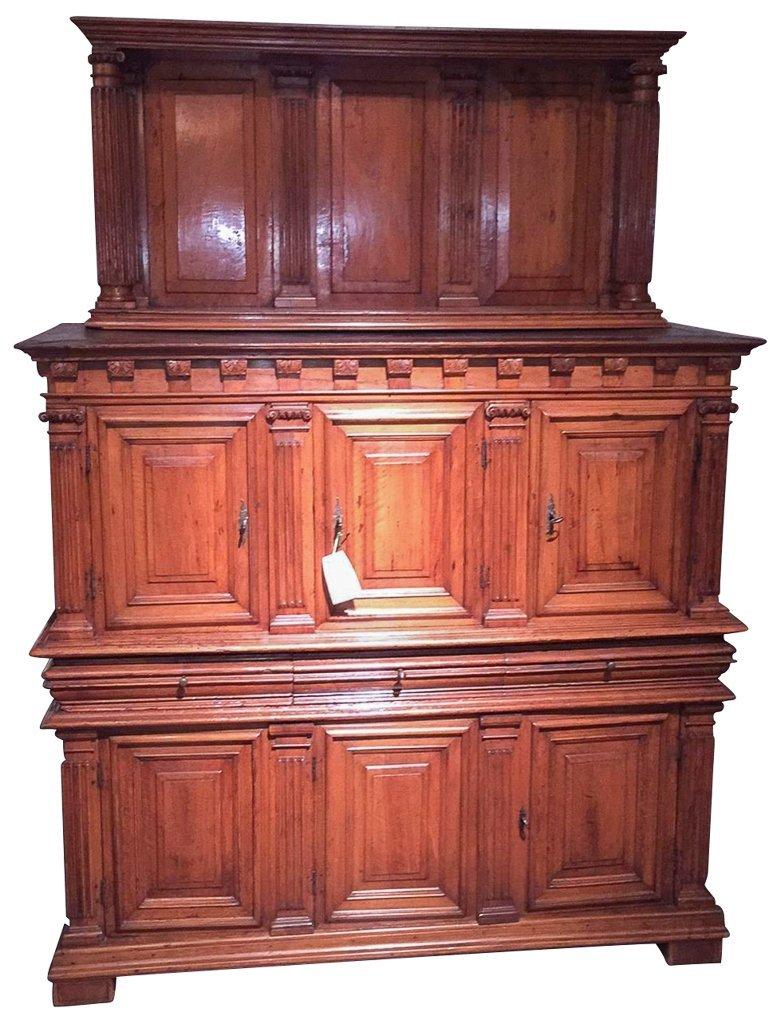 18th C. French Walnut Provencal Cupboard