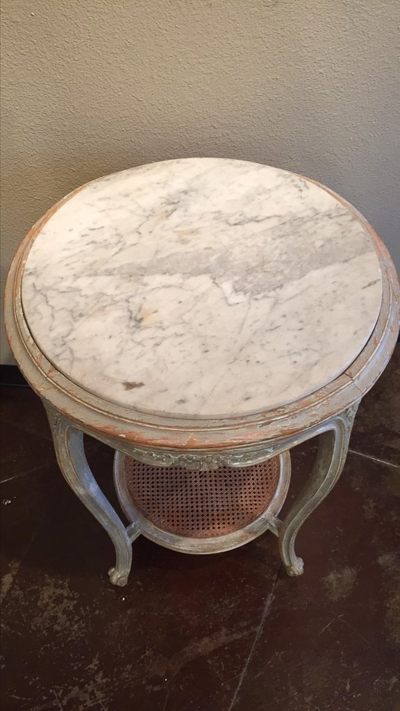 French Louis Xvi Carved & Painted Side Table - 3