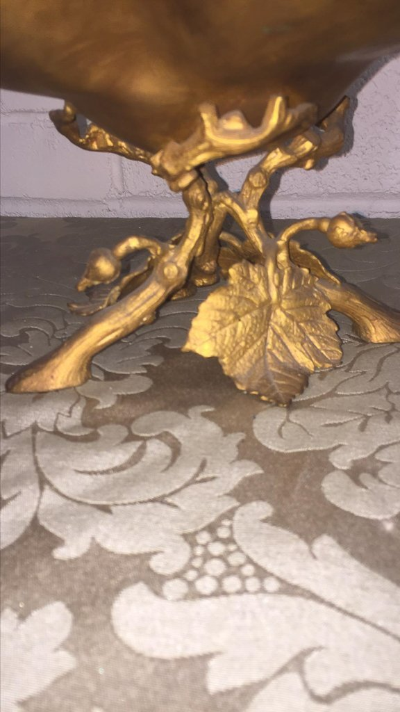 French Art Nouveau Bronze Footed Centerpiece, - 3