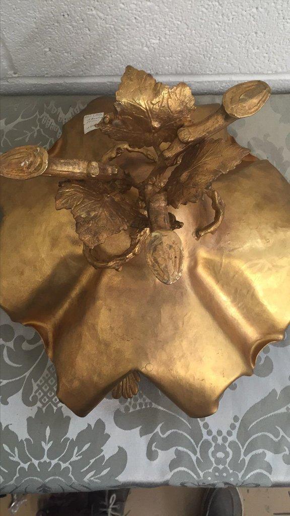 French Art Nouveau Bronze Footed Centerpiece, - 5