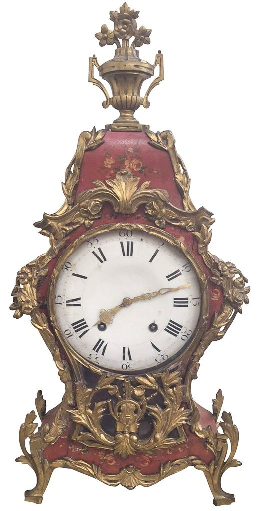 Early French Bracket Clock, Late 18th To Early