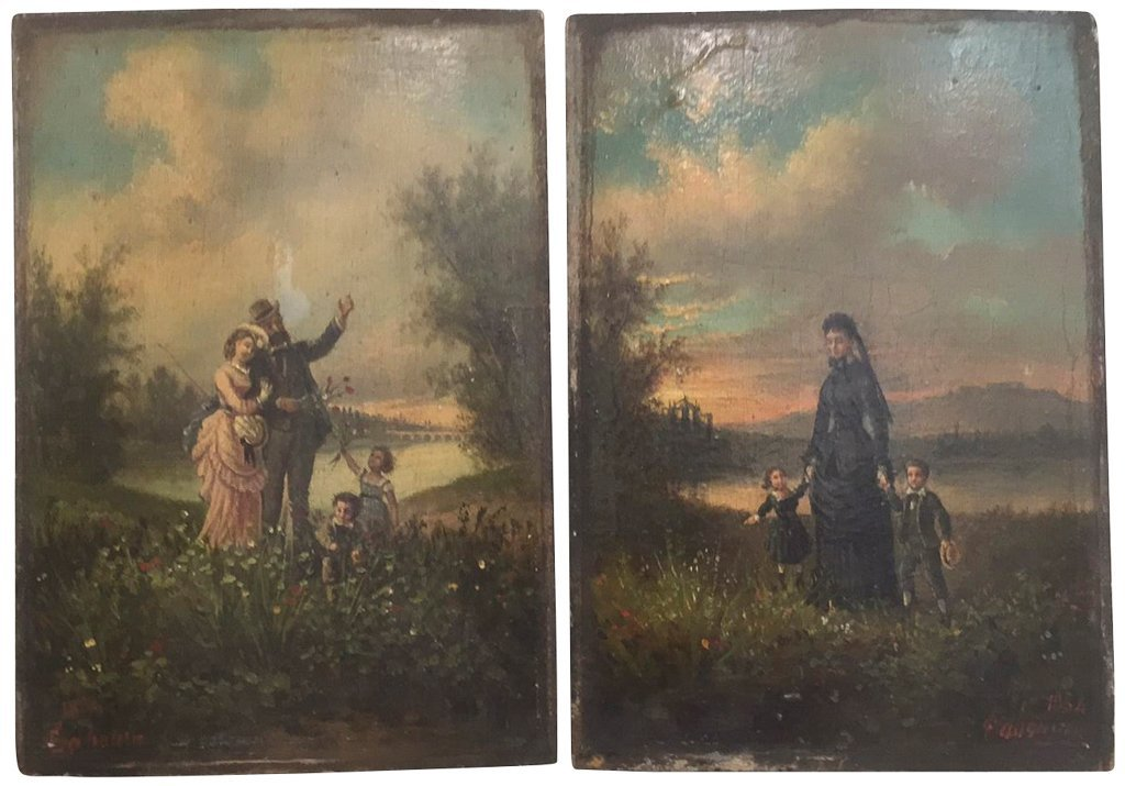 French Victorian All On Panel Painting