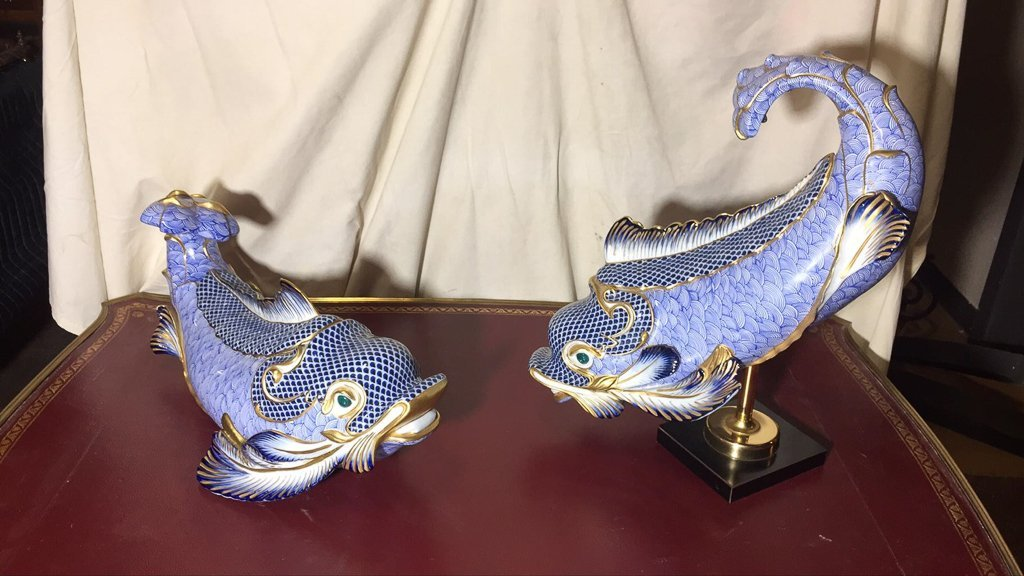 Nice Large Pair Of Herend Style Porcelain - 2