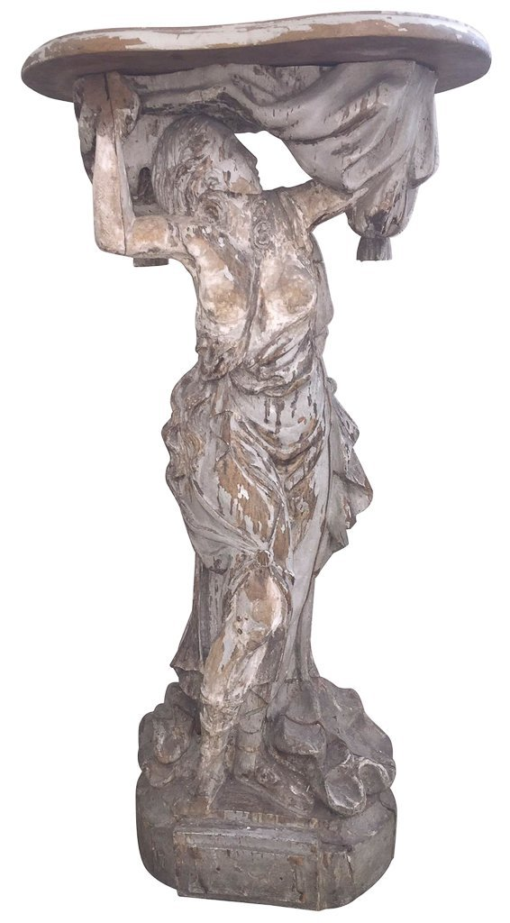 18th C. French Grecian Carved Figure,