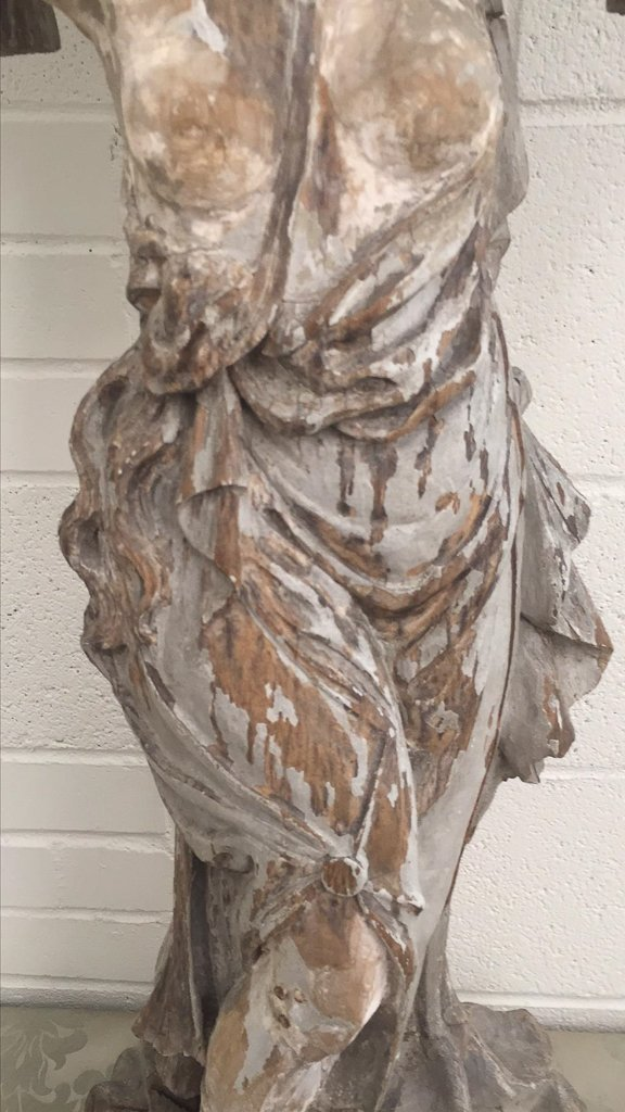 18th C. French Grecian Carved Figure, - 3
