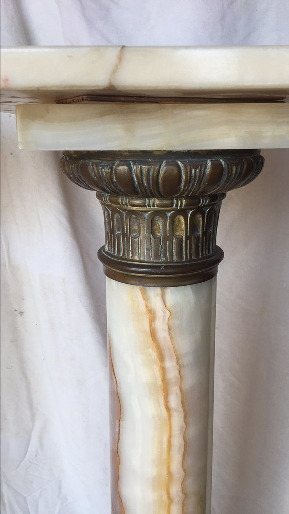 Antique French Onyx And Bronze Pedestal - 2