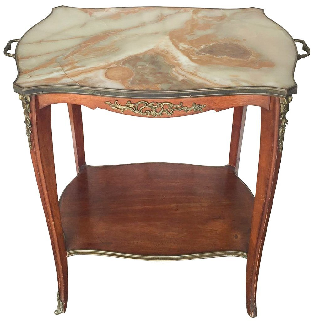 French Mahogany Dessert Table, Louis Xv Style,