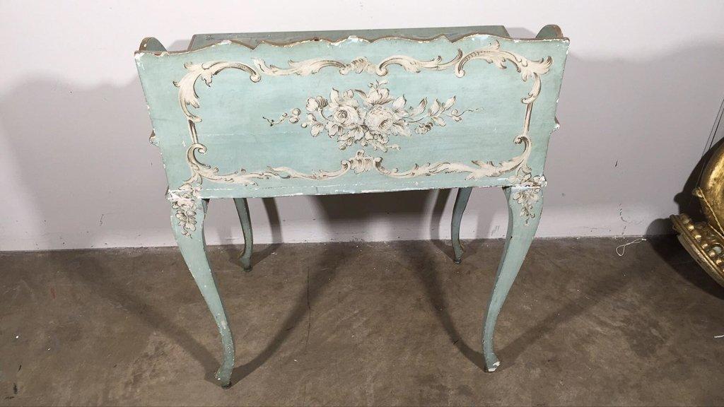 Venetian Hand-painted One Drawer Ladies Desk, - 3