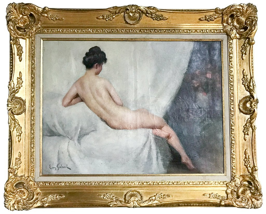 19th Century Oil On Canvas Of Nude, Signed