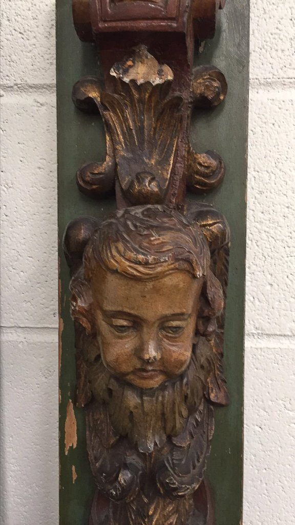 Pr 19th C. French Carved Wood Elements, - 2