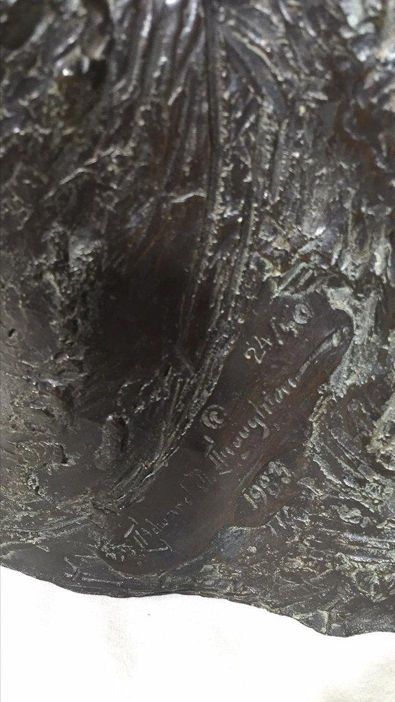 Edward Thournton, Signed Bronze Figure, 1983 - 2