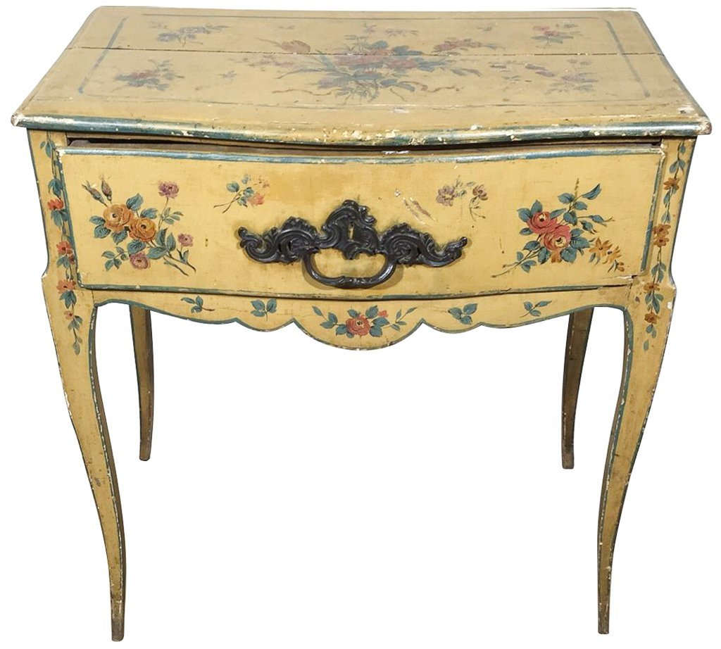 Italian Venetian Painted One Drawer Lowboy