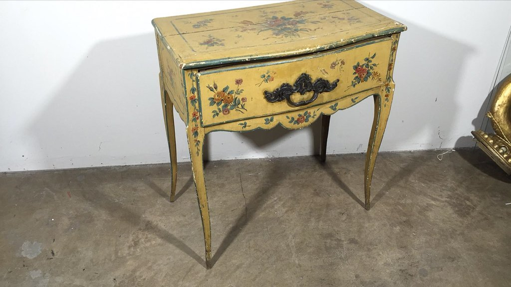 Italian Venetian Painted One Drawer Lowboy - 2