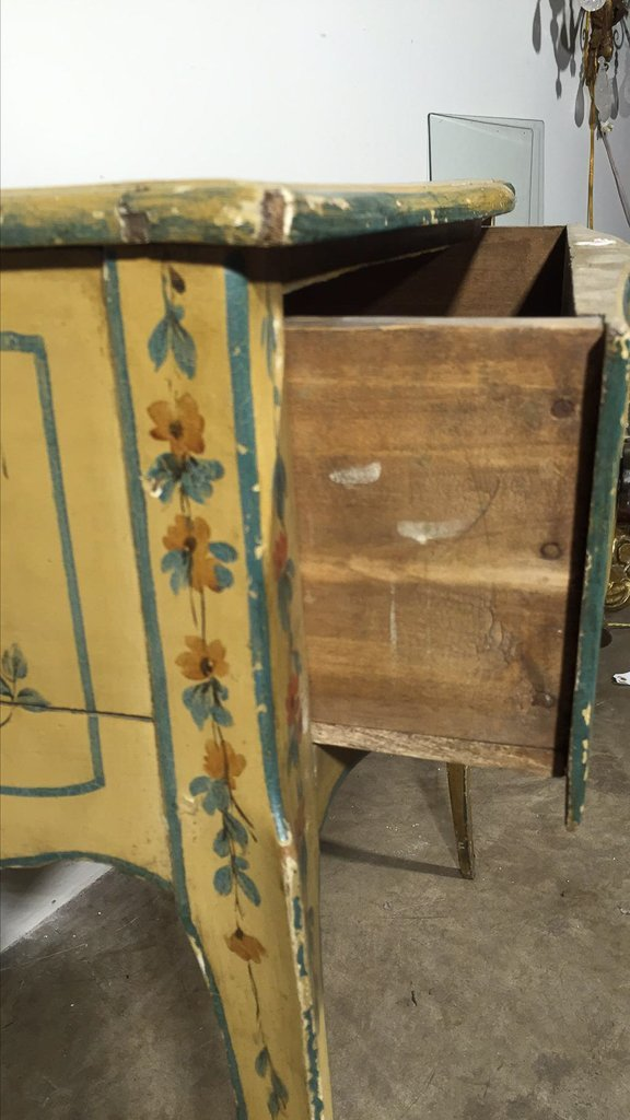 Italian Venetian Painted One Drawer Lowboy - 4