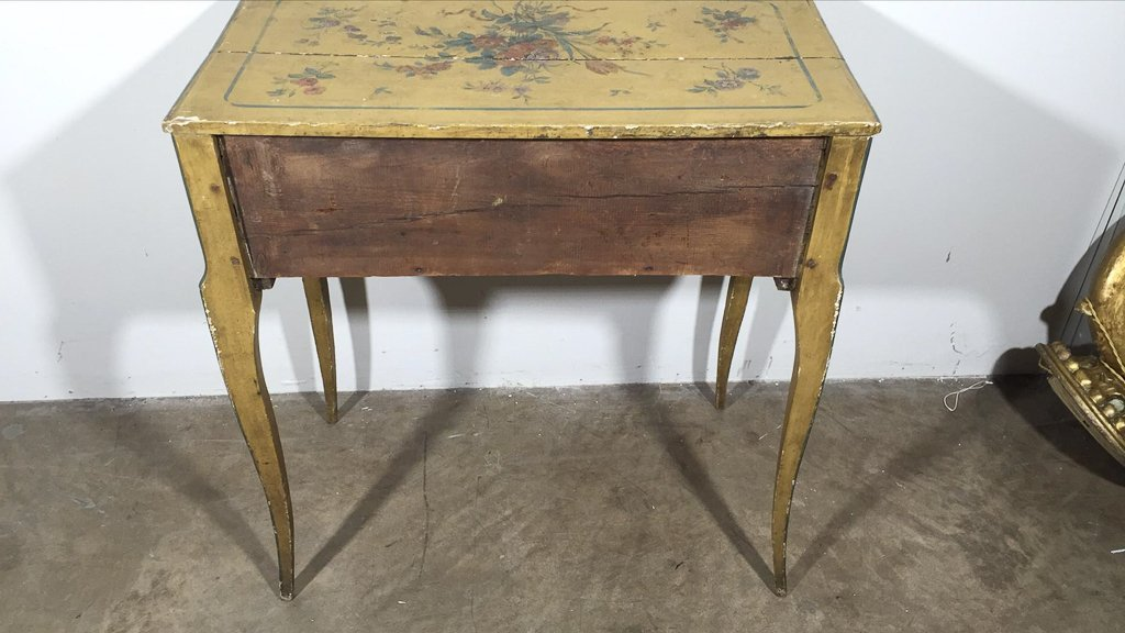 Italian Venetian Painted One Drawer Lowboy - 5