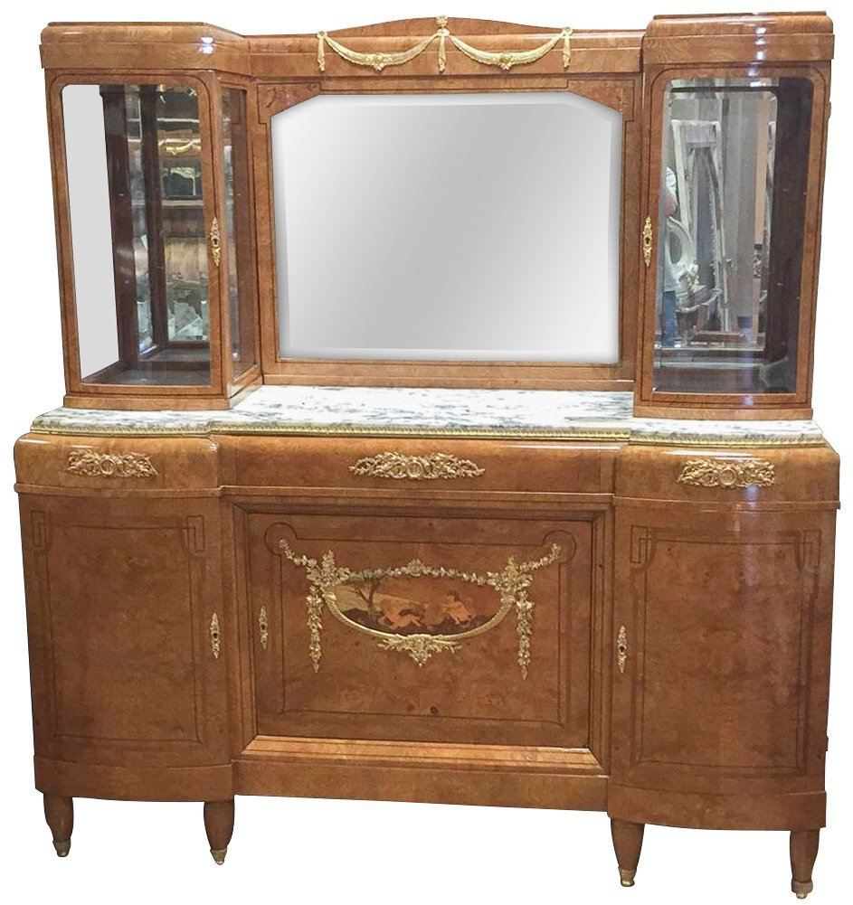 Find Quality Exotic Walnut French Deco Buffet,