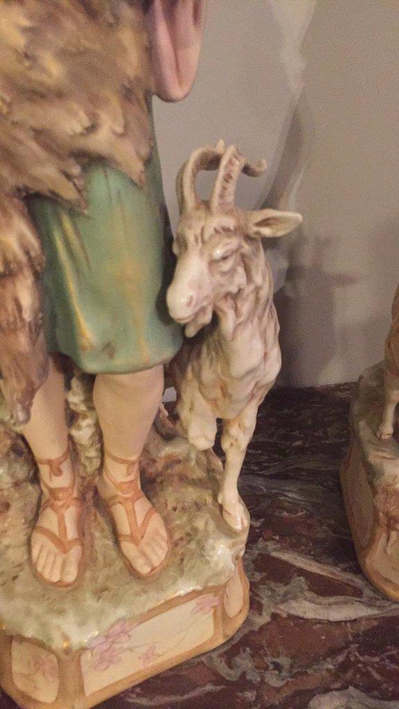 Pair Of 19th C. Royal Dux Figures - 3