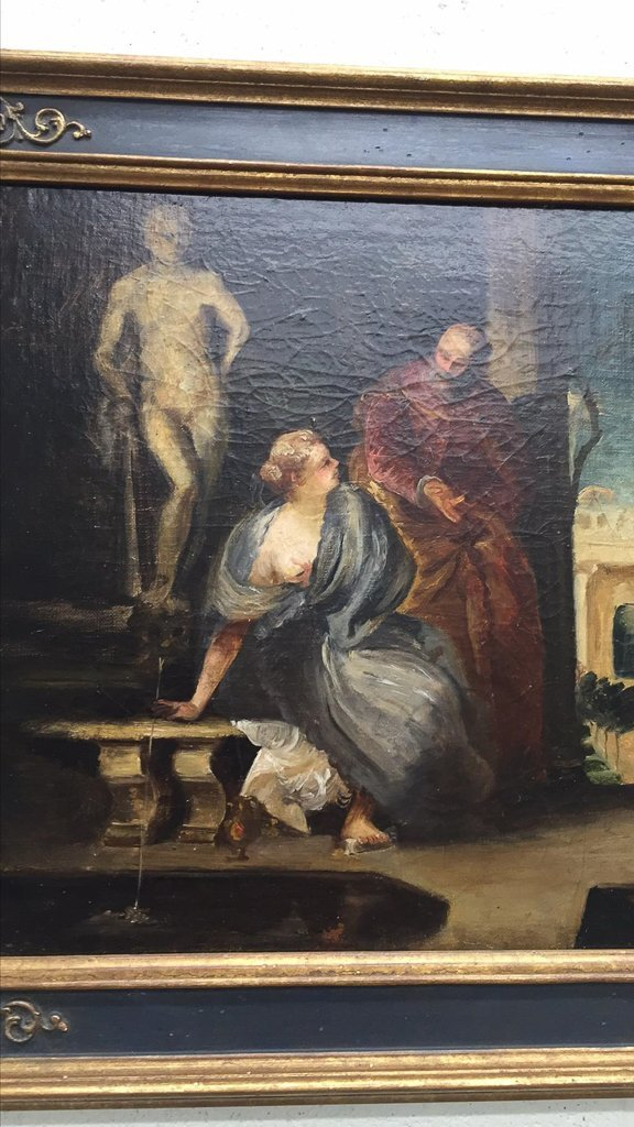 Early French Oil On Canvas Painting, Possibly - 2