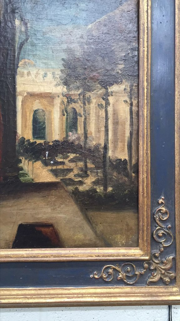 Early French Oil On Canvas Painting, Possibly - 3