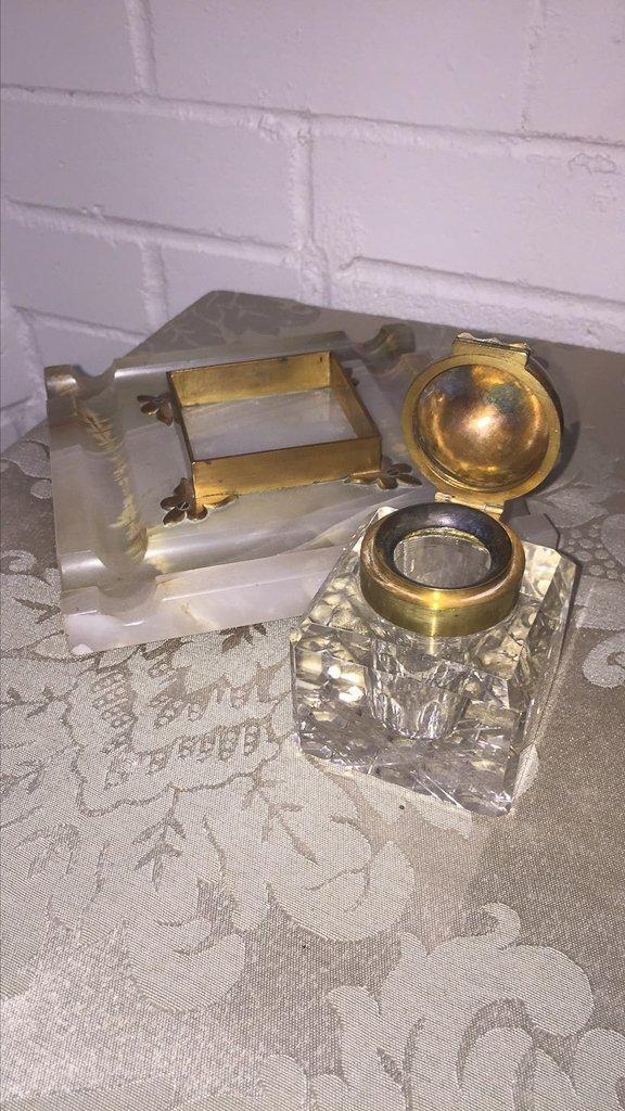 French  Napoleon Iii Cast Bronze Inkwell - 3