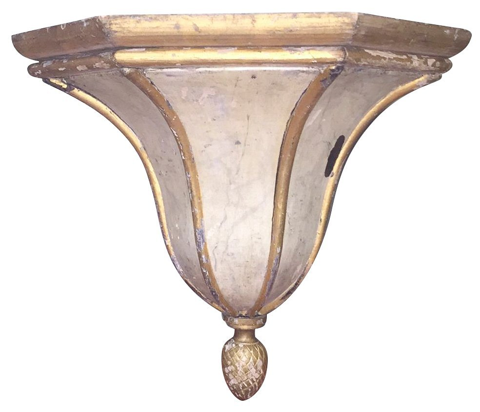 19th-century French Painted Wall Bracket