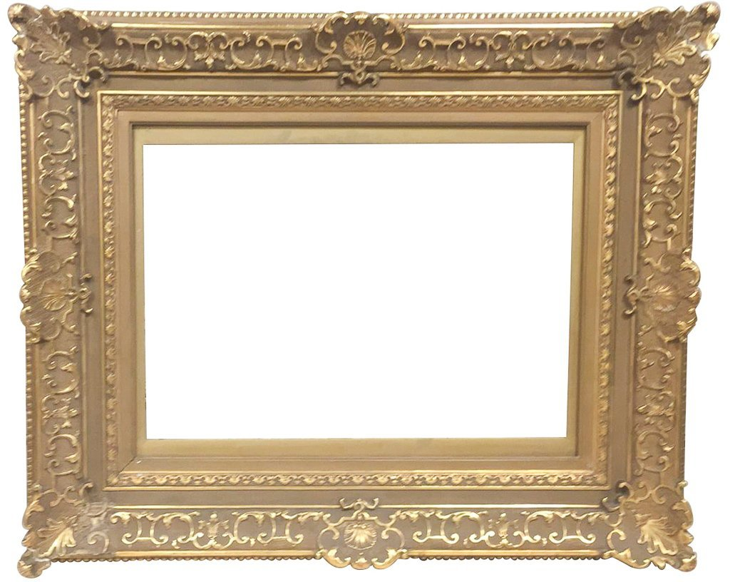 Antique French Water Gilt Wood Frame