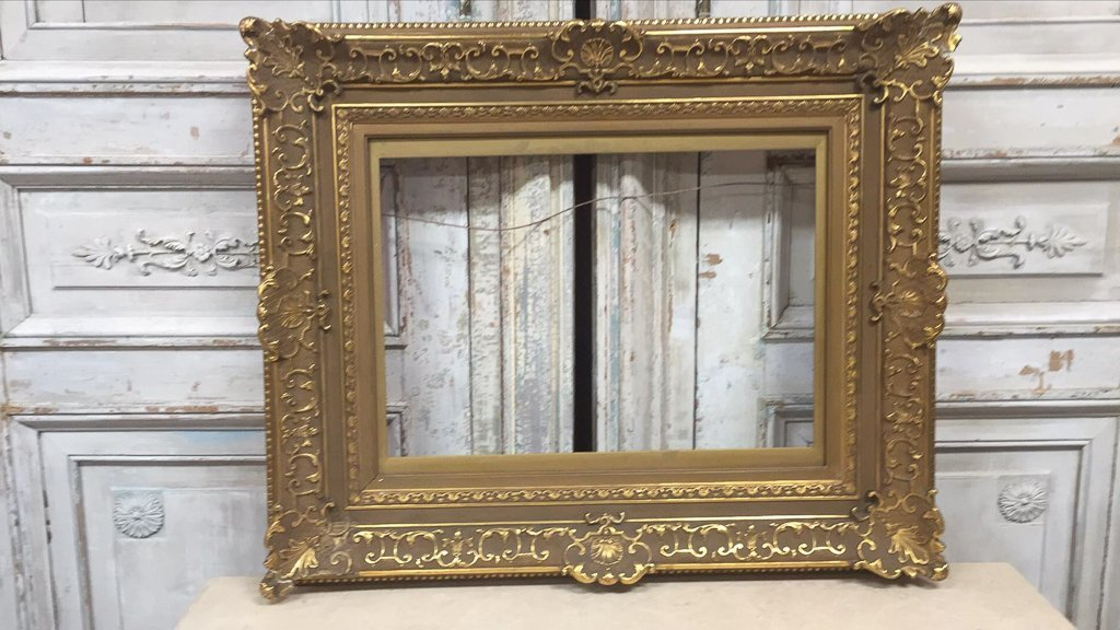 Antique French Water Gilt Wood Frame - 2