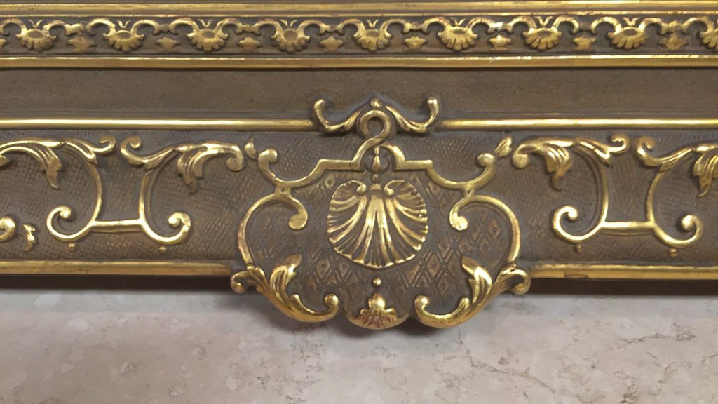 Antique French Water Gilt Wood Frame - 5