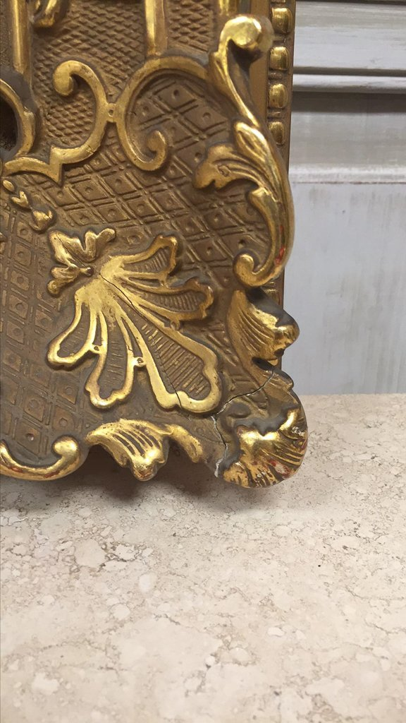 Antique French Water Gilt Wood Frame - 6