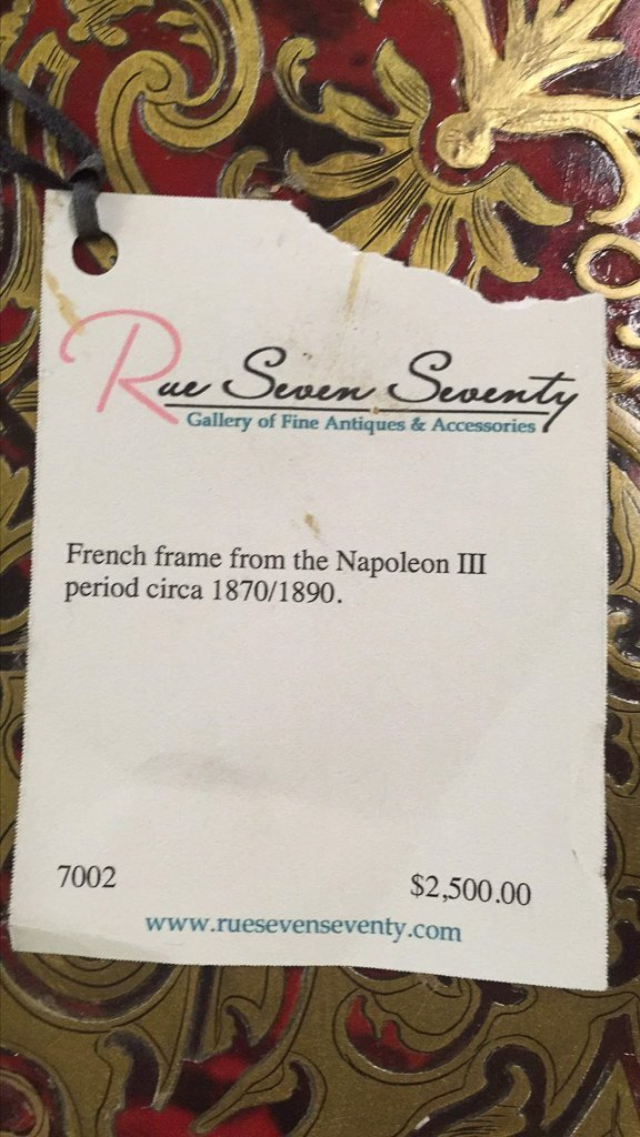 A 19th C French Napoleon Iii Frame - 7