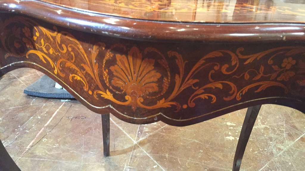 French Style Mahogany Center Table, With - 3