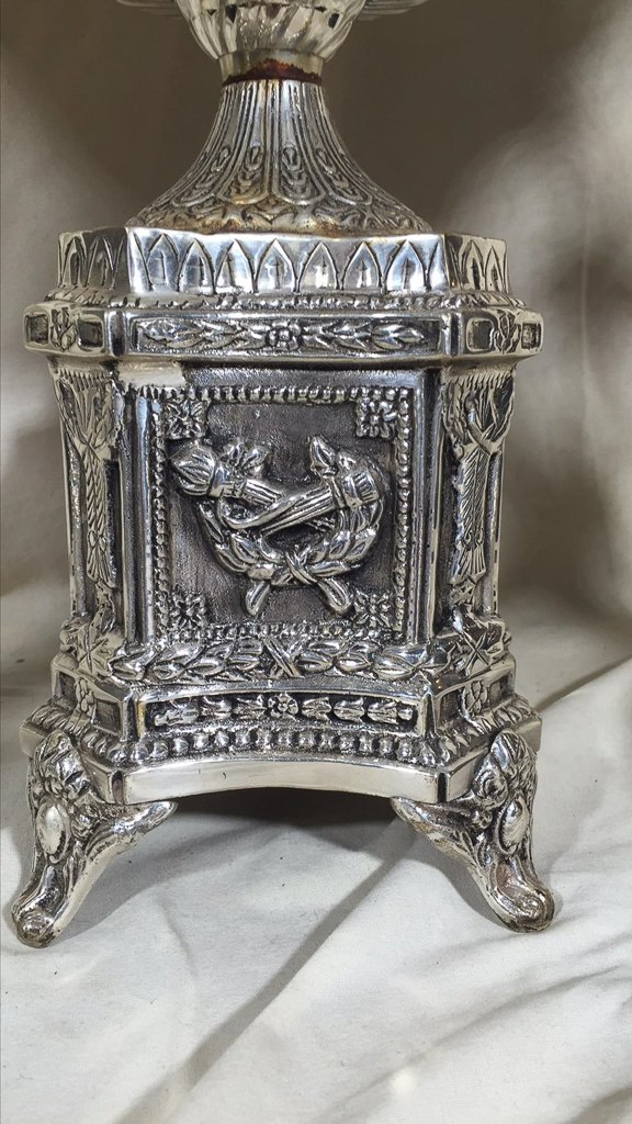 Nice Silver Plated Epergne, With A Pair Of - 2