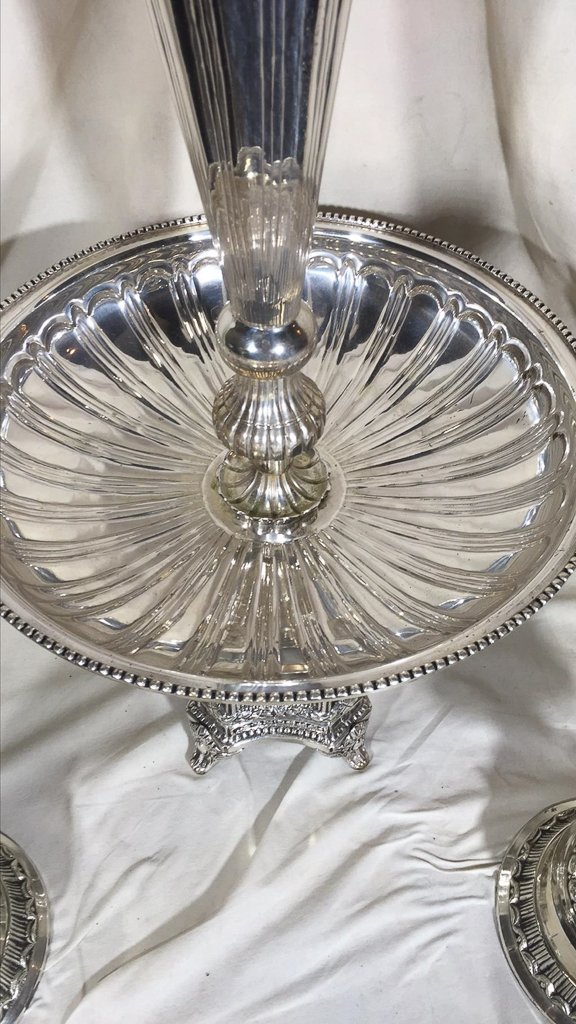 Nice Silver Plated Epergne, With A Pair Of - 3