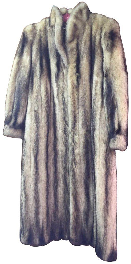 Unusual Full Length Mink Coat, Unique Dyed