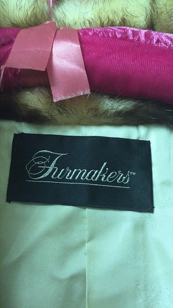Unusual Full Length Mink Coat, Unique Dyed - 2