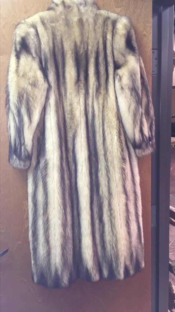 Unusual Full Length Mink Coat, Unique Dyed - 4