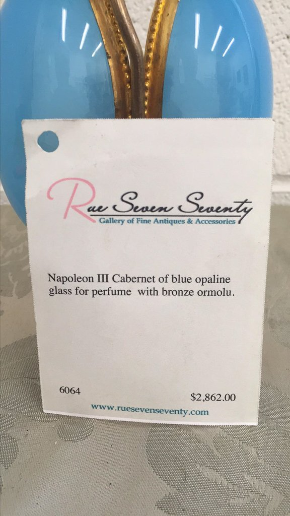 Antique French Napoeon Iii Cabernet, Of Blue - 4