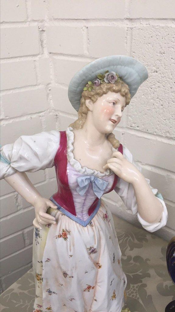 3 Pcs. German Porcelain, Meissen Cobalt  And - 2