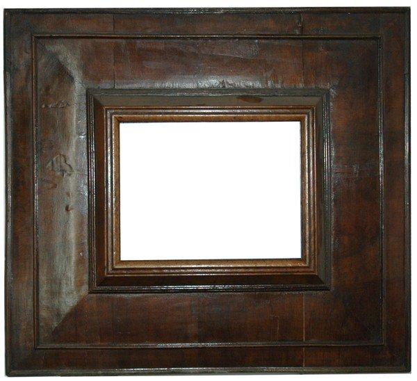 26: Dutch, 17th Century, cassetta-style Walnut frame