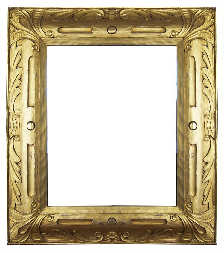 American 20th C. hand carved and gilded Taos frame.