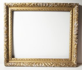 French 18th C. Hand Carved Ornate Frame