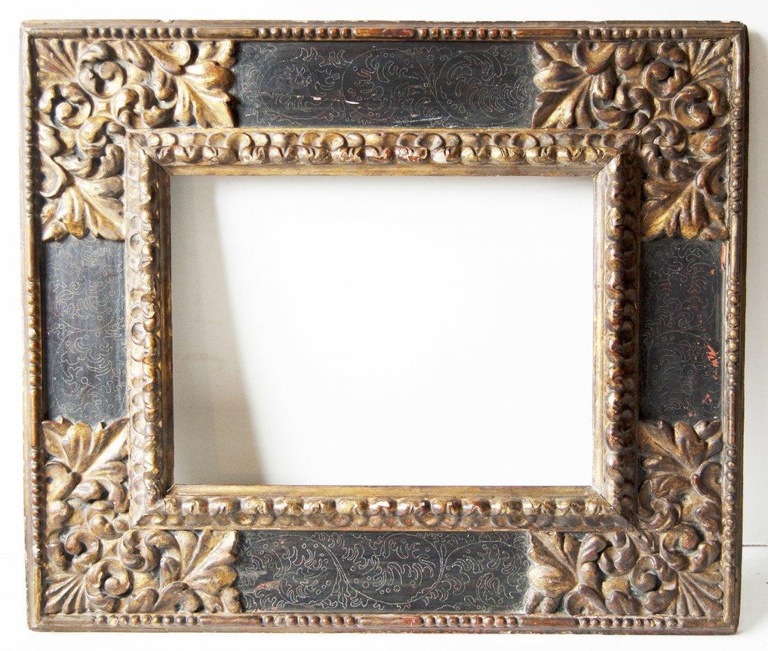 Italian 18th C. hand carved Cassetta frame