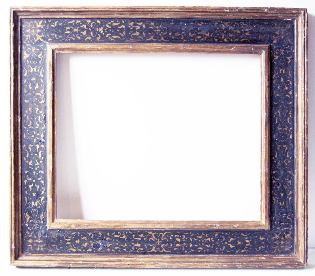 Italian 18th C. hand carved Cassetta frame.
