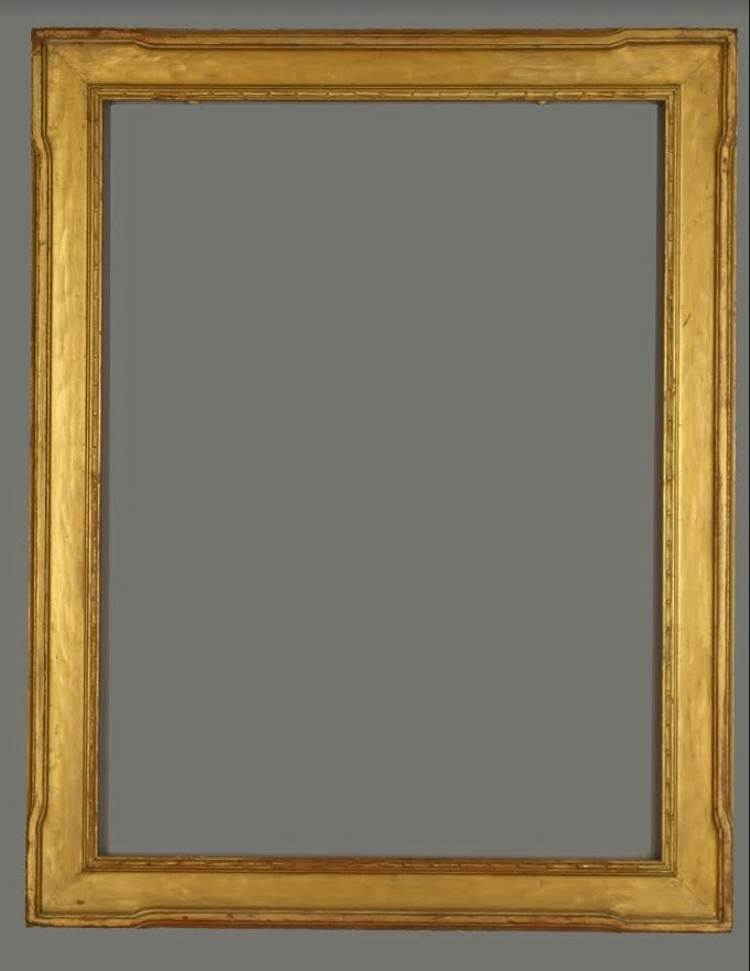 American 20th C. carved and gilded Taos frame.
