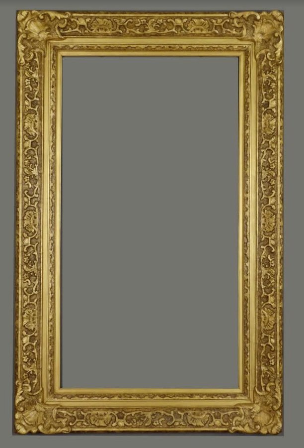 American 20th C. applied ornament & gilded Louis frame