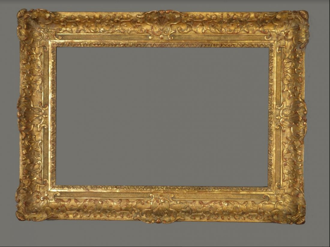 French 19th C. applied ornament & gilded Louis XIV