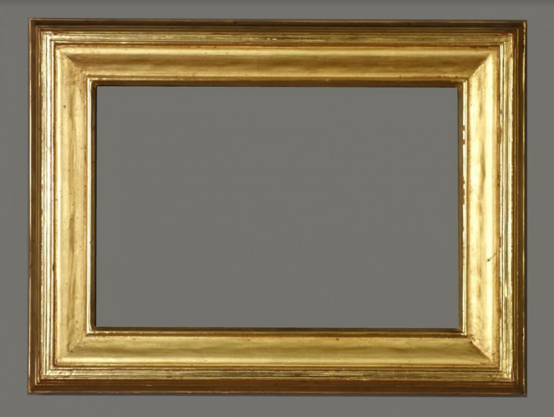 American 20th C. carved & gilded plain Ogee cove frame