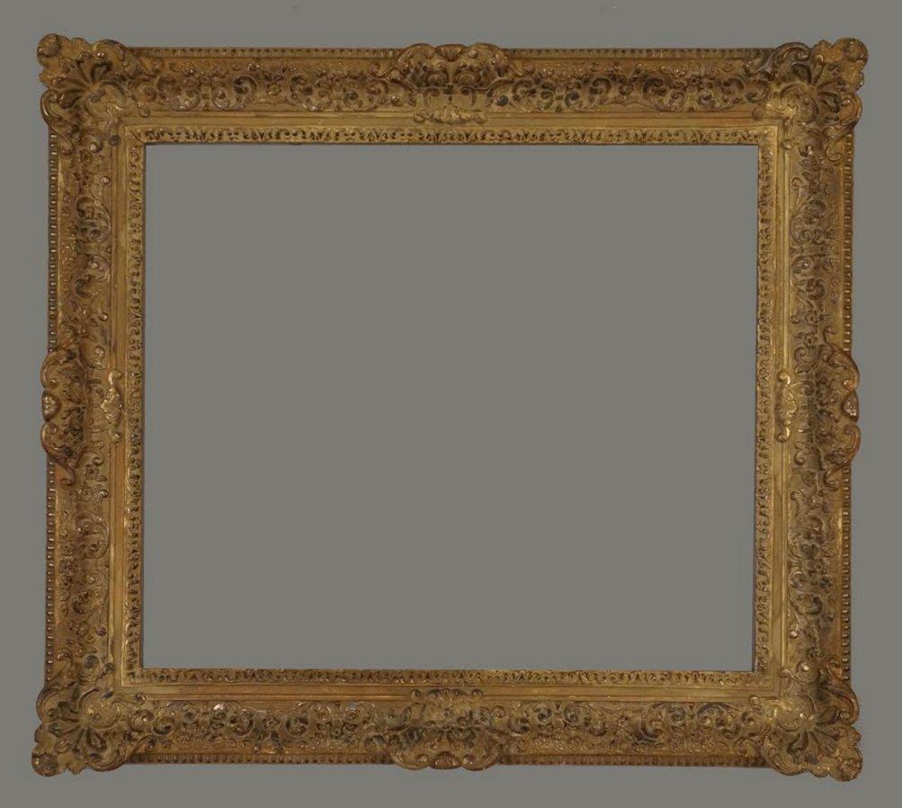 European early 20th C. gilded Louis frame