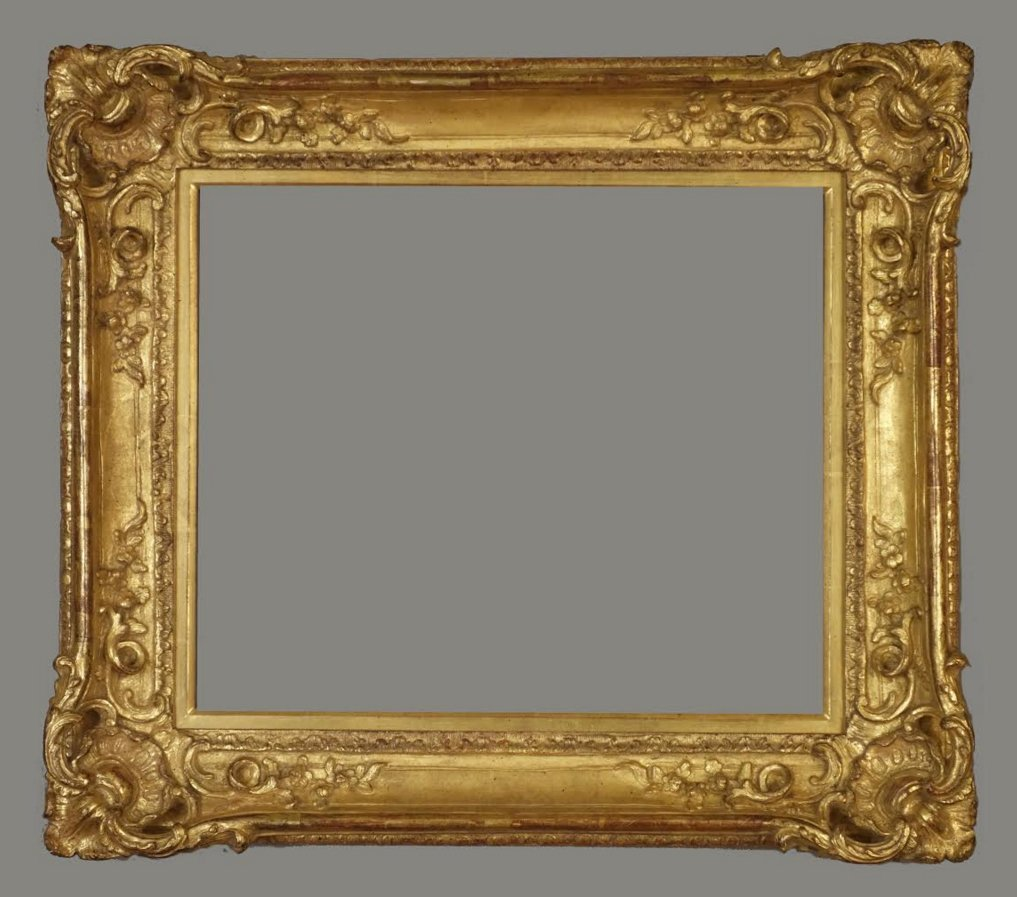 American carved and gilded Louis XV replica frame