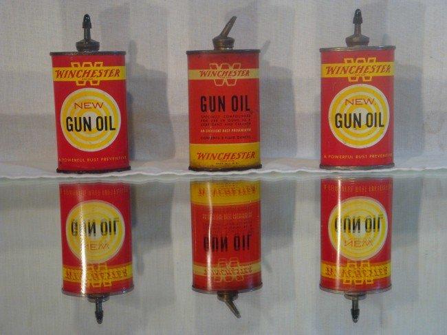 4: 3- Winchester Gun Oil Tins
